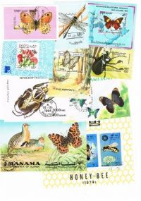 10 different butterflies and insects miniature sheets packet